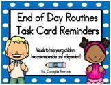 End of Day Routines Task Card Reminders to support PBIS (B