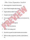 End of Day Teacher Checklist