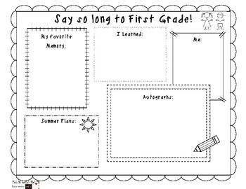 End of First Grade Memories ~FREEBIE~