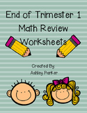 End of First Trimester Math Review Pages