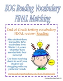 End of Grade (EOG) Vocabulary FINAL Reading Match (Common Core)