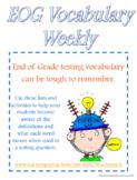 End of Grade (EOG) Vocabulary BUNDLE (Weeks 1-6)