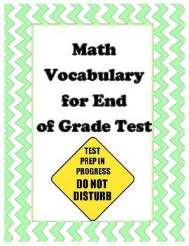 End of Grade Test Math Vocabulary 5th Grade