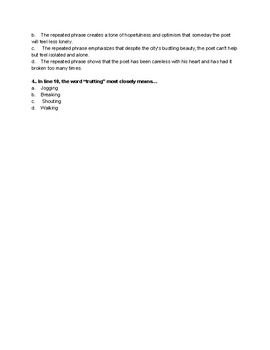 End of Grade Test Poetry Activity_Poem 1
