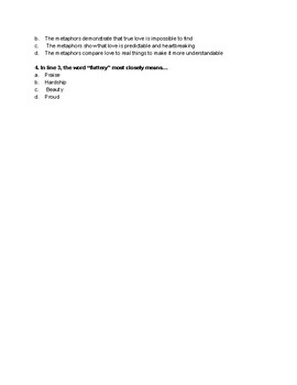 End of Grade Test Poetry Activity_Poem 2