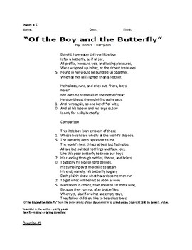 End of Grade Test Poetry Activity_Poem 5