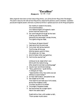 End of Grade Test Poetry Activity_Poem 6