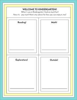 End of Kindergarten Advice Letters