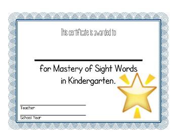 End of Kindergarten Awards