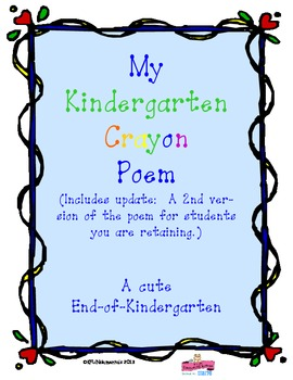 End of Kindergarten Crayon Candle