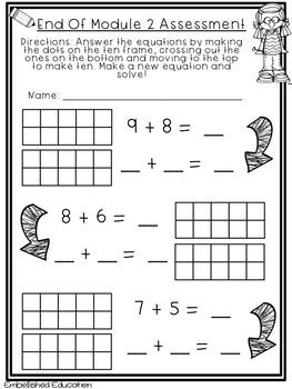 End of Module 2 Assessment Math First Grade