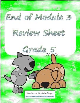 End of Module 3 Review Sheet - Grade 5