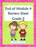 End of Module 4 Review Sheet - Grade 5 (Eureka Math / Enga