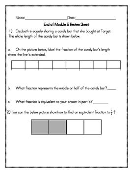 End of Module 5 Review Sheet - Grade 3 (Eureka Math / Engage NY)