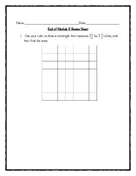 End of Module 5 Review Sheet - Grade 5 (Eureka Math / Engage NY)