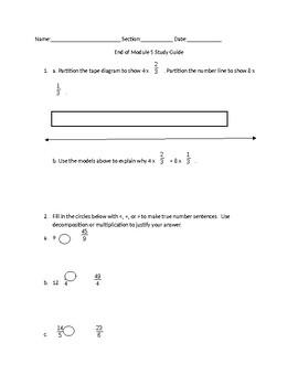 End of Module 5 Study Guide Eureka Math Grade 4 Engage NY