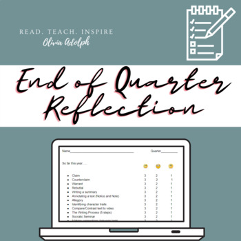 End of Quarter Reflection (Editable)