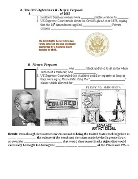 End of Reconstruction Guided PowerPoint Lecture Notes