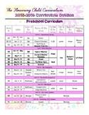 End of School 2015 Preschool Curriculum Outline