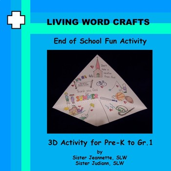 End of School 3D Trifold Activity for Pre-K to Grade 1