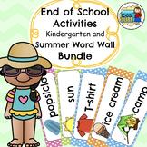 End of School Activities (Kindergarten) and Summer Word Wall Bundle
