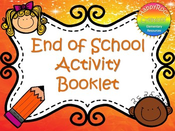 End of School Activity Book
