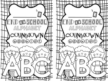 End of School Alphabet Countdown Booklet