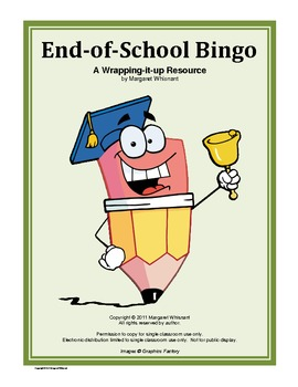 End-of-School Bingo Game
