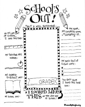 End of School Year Coloring Page