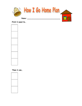 End of School Day Checklist