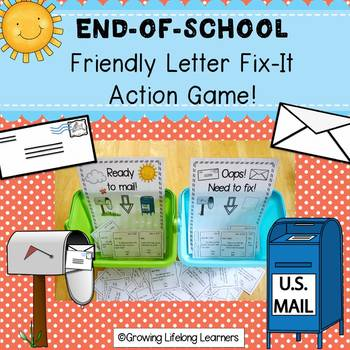END-OF-SCHOOL Friendly Letter Action Game