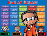 End of Year Activities Jeopardy Style Game Show -2nd-6th Grade Distance Learning