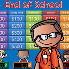 End of Year Activities Jeopardy Style Game Show - 2nd-6th Grade