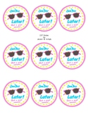 End of School Gift Tags - Summer Gift Tags - Sunglasses Tags