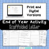 Fun End of Year Writing Activity - End of Year Letter - Digital & Print Version