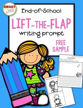 End-of-School Lift-the-Flap Writing Prompt FREE