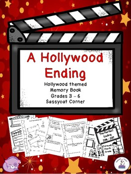 End of School Memory & Autograph Book with a Hollywood Theme