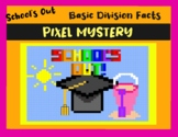 "End of School - ""School's Out"" Division Math DIGITAL Pixel Art"