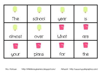 End of School Scrambled Sentences