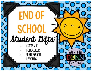 End of School Student Gift Tags