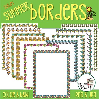 Welcome to Summer Borders Clip Art Commercial Use O.K.