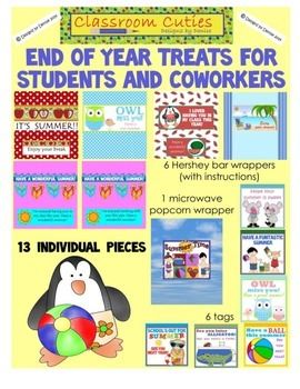 End of School Treats for Students and Coworkers