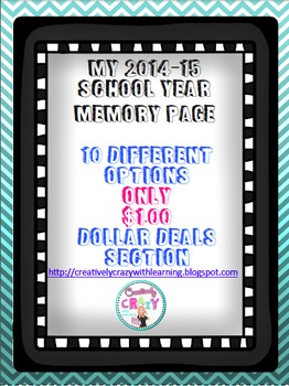 End of School Year 2014-15 Memory Page Dollar Deal