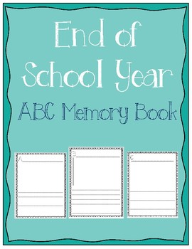 End of School Year ABC Memory Book