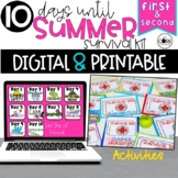 End of Year Countdown Activities   Last 10 Days of School   Digital & Print