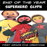 Superhero Math | End of the Year Activities | Glyph | Graphing