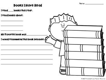 End of School Year Activities - Writing Activities Memory Book & BONUS mini book