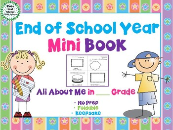 End of School Year All About Me Mini Book