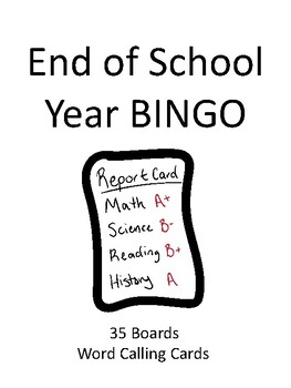 End of School Year BINGO!