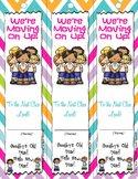 "End of Year Bookmarks - ""We're Moving On Up!"""